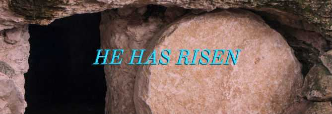 He has risen!  He is not here